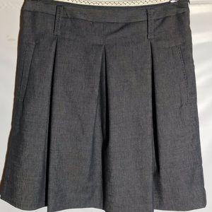 BCBGMaxAzria Gray Denim Pleated Skirt